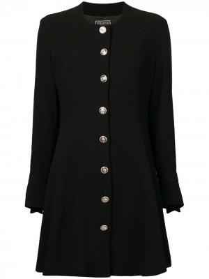 Платье с длинным рукавом 1990-х годов Versus Pre-Owned. Цвет: черный