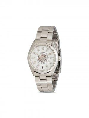 Кастомизированные наручные часы Rolex Oyster Perpetual Jacquie Aiche. Цвет: серебристый
