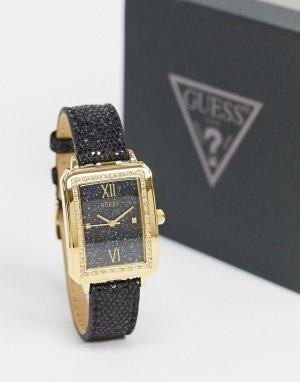 Часы с квадратным циферблатом -Черный Guess