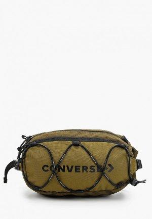 Сумка поясная Converse. Цвет: хаки