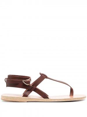 Сандалии с ремешком на щиколотке Ancient Greek Sandals. Цвет: коричневый