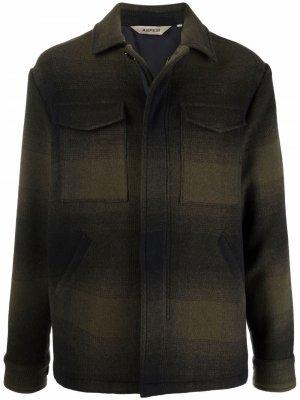 Клетчатая куртка Aspesi. Цвет: зеленый