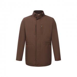 Утепленная куртка Corneliani. Цвет: коричневый
