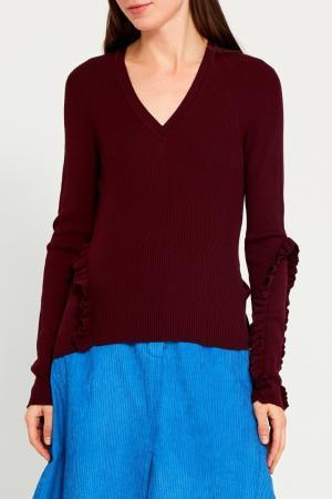 Пуловер с рюшами Nina Ricci