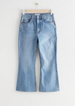 Укороченные джинсы Mood Cut &Other Stories. Цвет: синий