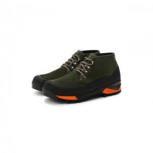 Комбинированные ботинки Diemme. Цвет: зелёный
