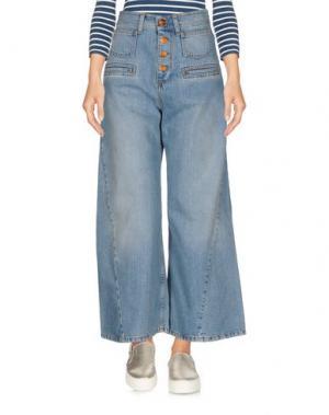 Джинсовые брюки-капри RODEBJER. Цвет: синий