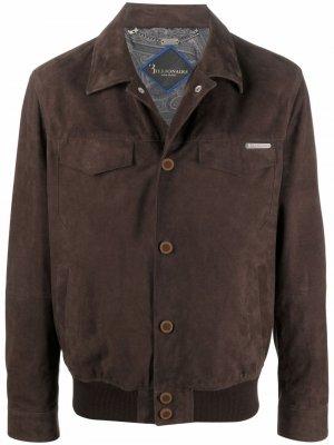 Куртка-рубашка Billionaire. Цвет: коричневый