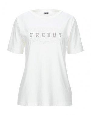 Футболка FREDDY. Цвет: белый