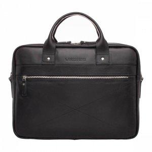 Кожаная деловая сумка для ноутбука Bartley Black