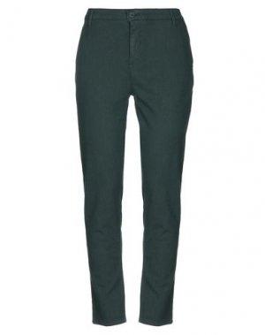 Повседневные брюки H2O ITALIA. Цвет: темно-зеленый