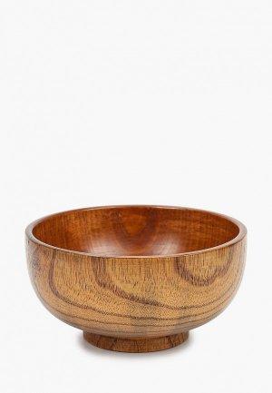 Тарелка Svahomeart 400 мл, d 16 см, h 8.5 см. Цвет: коричневый