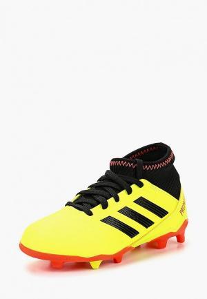 Бутсы adidas PREDATOR 18.3 FG J. Цвет: желтый