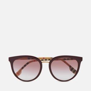 Солнцезащитные очки BE4316 Burberry. Цвет: бордовый