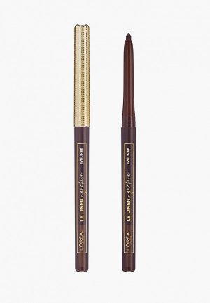 Карандаш для глаз LOreal Paris L'Oreal Le Liner Signature, оттенок 05, мускатный шёлк. Цвет: коричневый