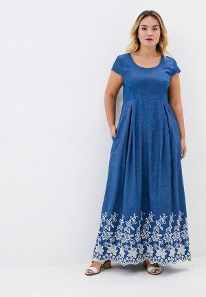 Платье джинсовое Gabriela. Цвет: синий