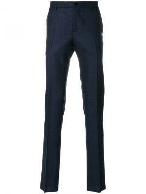Классические брюки в клетку Etro. Цвет: синий
