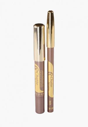 Набор для макияжа глаз Chatte Noire Карандаш + Карандаш-тени №53, 5,75. Цвет: бежевый