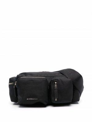 Сумка на плечо с несколькими отделениями Givenchy. Цвет: черный
