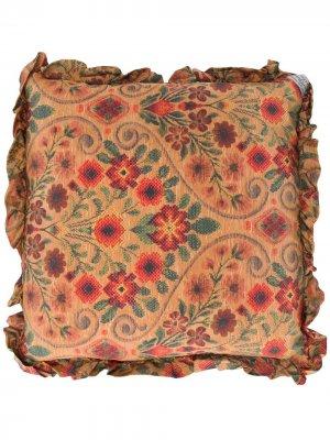Подушка с цветочным принтом Preen By Thornton Bregazzi. Цвет: нейтральные цвета