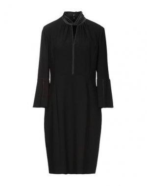 Платье до колена ELIE TAHARI. Цвет: черный