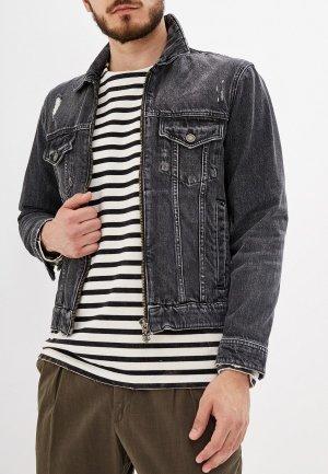 Куртка джинсовая The Kooples. Цвет: серый