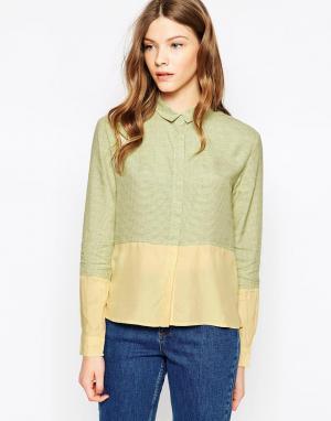 Рубашка в клетку Le Mont St Michel. Цвет: желтый