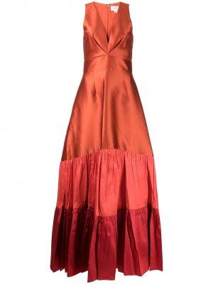 Вечернее платье Rori без рукавов Sachin & Babi. Цвет: оранжевый