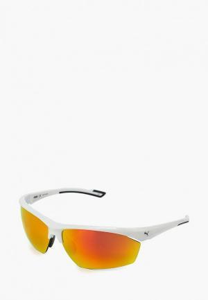 Очки солнцезащитные PUMA PU053DMCZKI4. Цвет: белый