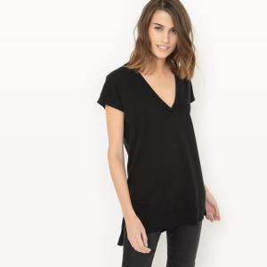 4b356cd060e Пуловер с короткими рукавами из хлопка и шелка LA REDOUTE COLLECTIONS.  Цвет  серый меланж
