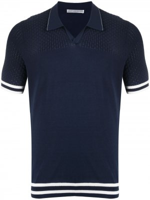 Трикотажная рубашка поло с короткими рукавами Daniele Alessandrini. Цвет: синий