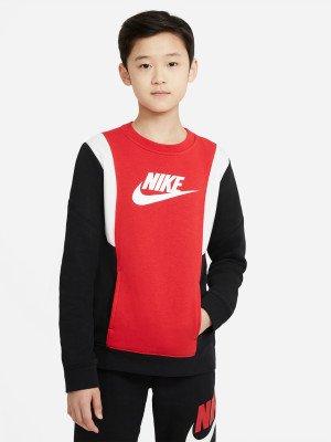 Свитшот для мальчиков Sportswear Amplify, размер 147-158 Nike. Цвет: черный