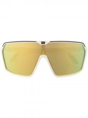 Солнцезащитные очки Spinshield в широкой оправе Rudy Project. Цвет: белый