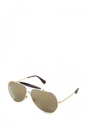 Очки солнцезащитные Prada PR 56SS 5AK4L0. Цвет: золотой