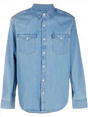 Levis Barstow Western denim shirt Levi's. Цвет: синий
