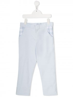 Брюки с контрастными карманами Patachou. Цвет: синий