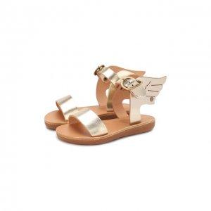 Кожаные босоножки Ancient Greek Sandals. Цвет: золотой