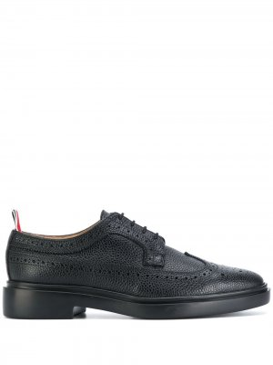 LIGHTWEIGHT SOLE LONGWING BROGUE Thom Browne. Цвет: черный