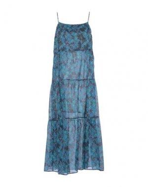 Длинное платье MAAN. Цвет: грифельно-синий