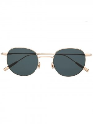 Солнцезащитные очки в круглой оправе AMBUSH. Цвет: золотистый