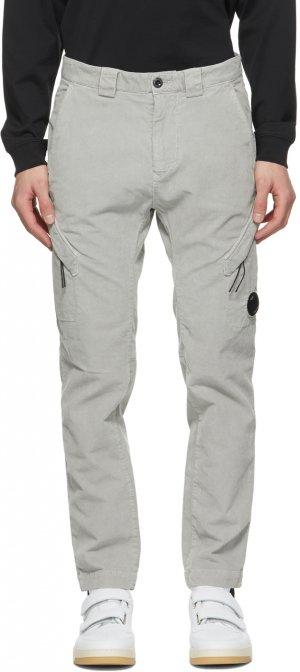 Grey Corduroy Cargo Pants C.P. Company. Цвет: 900 grey