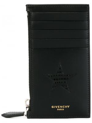 Визитница со звездой на молнии Givenchy. Цвет: чёрный