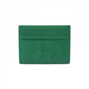 Кожаный футляр для кредитных карт Bottega Veneta. Цвет: зелёный