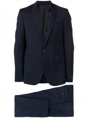 Строгий костюм-двойка Les Hommes. Цвет: синий
