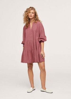 Короткое платье с воланами - Diana Mango. Цвет: розовый