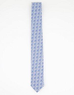 Галстук с принтом в стиле «либерти» -Голубой Gianni Feraud