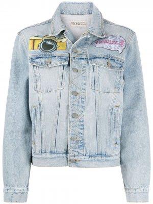 Джинсовая куртка с нашивками Fiorucci. Цвет: синий