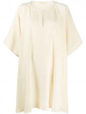 Платье-рубашка с короткими рукавами The Row. Цвет: нейтральные цвета