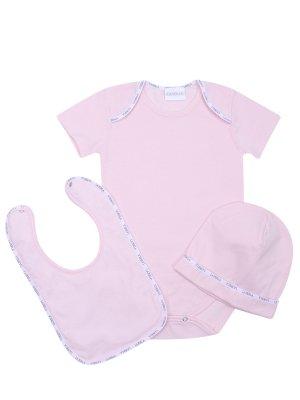 Комплект для новорожденного La Perla. Цвет: розовый