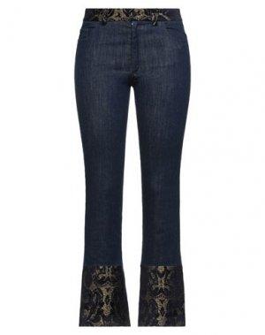 Джинсовые брюки 1-ONE. Цвет: синий